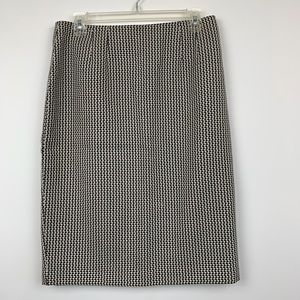 Linda Allard Ellen Tracy Houndstooth Pencil Skirt